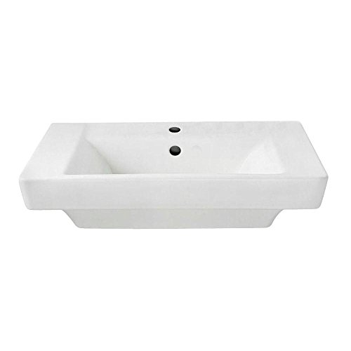 American Standard 0641.001.020 Boulevard Single Hole Pedestal Sink Basin, White - Drop In Lavatory American Standard