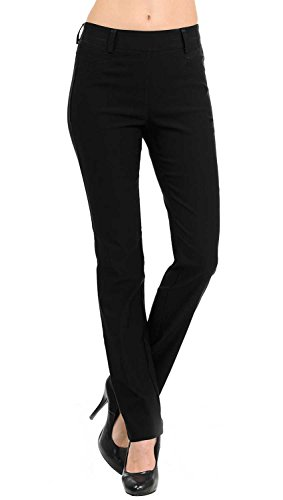 Collection Pants Womens (VIV Collection New Straight Fit Long Trouser Pants (Large - 32