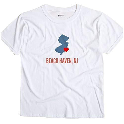 GreatCitees Beach Haven New Jersey NJ Heart Unisex Souvenir T Shirt