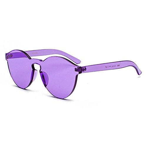Mujeres Plastic Lens Hombres Piece Sunglasses Red C9 Rimless Glass One Color Candy Juleya Wnq6wBXxF