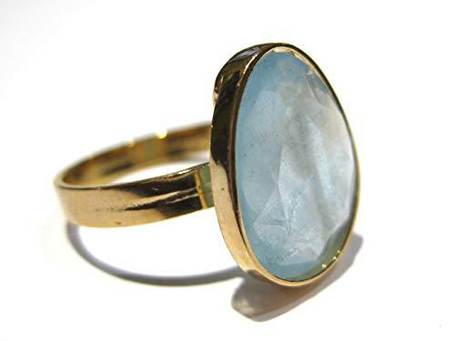 aquamarine ring Gold 18 k