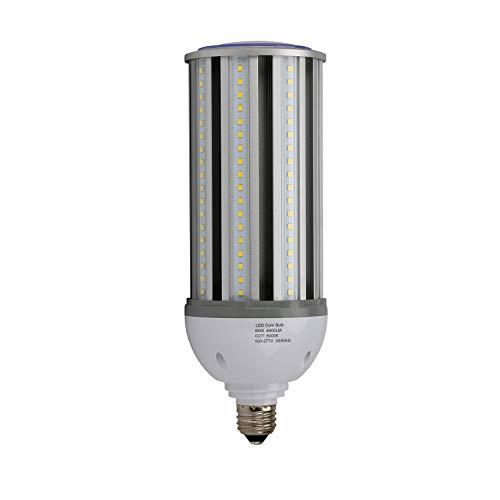 (JULLISON High Intensity LED Corn Light Bulb, 54W, 120-277VAC, Street/Area Light HID 250W Equivalent, 6400 Lumens, CRI>80, E39 Base, 5000K, Non-Dimmable, 360°Omni-Directional, IP64, UL/DLC)