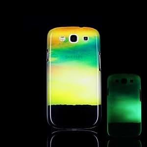 QJM 20150511 Cloud Pattern Glow in the Dark Hard Case for Samsung Galaxy S3 I9300