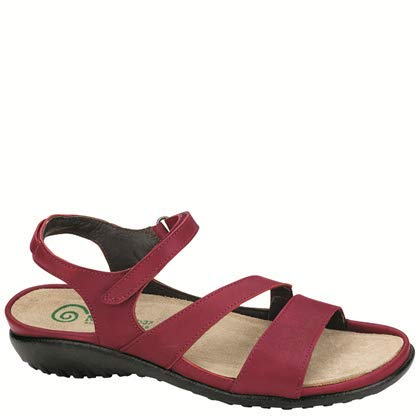 Naot Footwear Women's Etera Berry Leather Sandal 6 M US