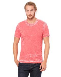 - Bella + Canvas Unisex Poly-Cotton Short Sleeve Tee (Red Acid Wash) (S)
