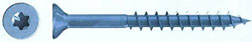 Spanplattenschrauben Reisser Q200 Vi-Port Torx 5,0 x 90 Teilgewinde Senkkopf blau verzinkt TX 25 VE 200 St/ück