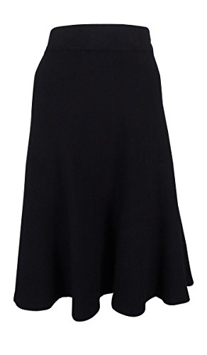 Milano Womens Skirt (Alfani Women's Milano Fit & Flare Sweater Skirt (XS, Deep Black))