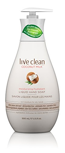 Live Clean Coconut Milk Moisturizing Liquid Hand Soap, 17 oz.