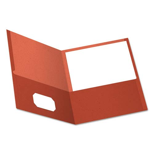 (Earthwise 100% Recycled Paper Twin-Pocket Portfolio, Red, Sold as 1 Box, 25 Each per Box)