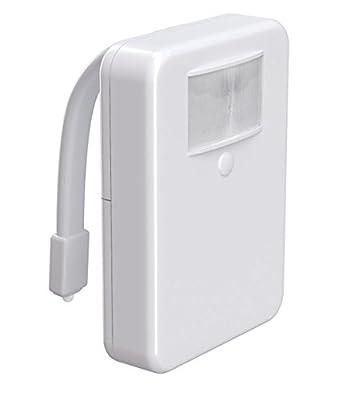 LuxmiLux 16 Color LED Motion Sensor Toilet Light, White
