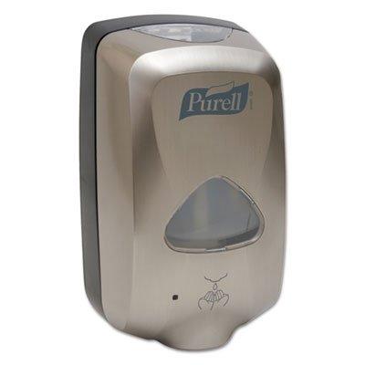 - PURELL 279012EEU00 TFX Touch Free Dispenser, Brushed Metallic, 6w x 4d x 10.5h, 1200 ml