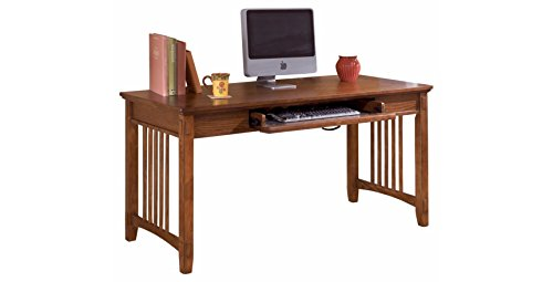 Ashley Furniture Signature Design - Cross Island Large Office Desk - Drop-Down Keyboard Tray - Casual - Medium Brown Finish