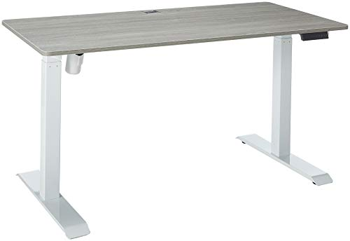 "Techni Mobili Automatic Sit to Stand Desk, 59"" W x 27.5"" D x 48"" H, Gray"