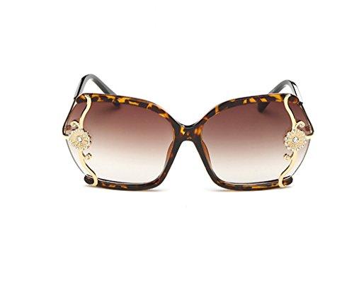 Manera Vidrios Grandes de de de Gafas gradientes de vidrios Caja A Marea la la Gafas X565 conducen Diamante Señoras sol incrustados de B la Color sol los Gafas xw0z1dnYqI