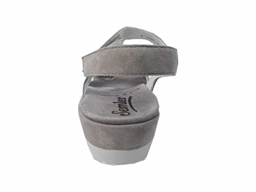 Semler Ladies Dagmar Sandali Con Cinturino Grigio (perla)