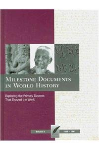 Books : Milestone Documents in World History, Volume 3