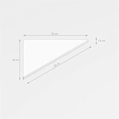 Nobilitato Made in Italy Nero Frassino Mobilifiver Set di 4 Mensole ad Angolo Easy 35 x 35 x 49 cm