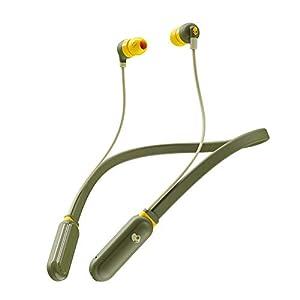 Skullcandy Inkd Plus Wireless in-Earphone with Mic (Moss/Olive/Yellow)