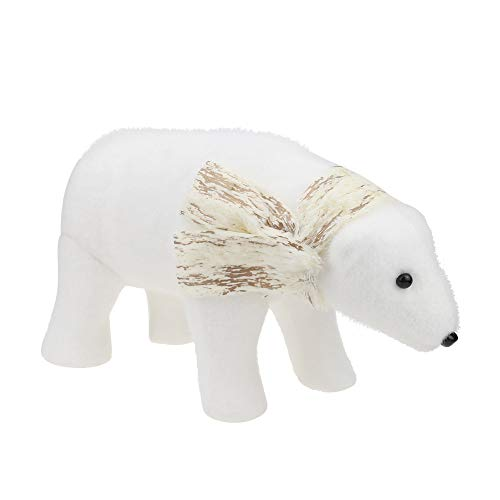 certainPL Christmas Polar Bear Plush Doll, Handmade Toys for Craft Supplies DIY Kids Room Decoration, 12.6