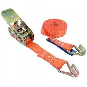 JIC Cargo Lashing Belt with Double J Hook (25 mmX5 m, Multicolour)