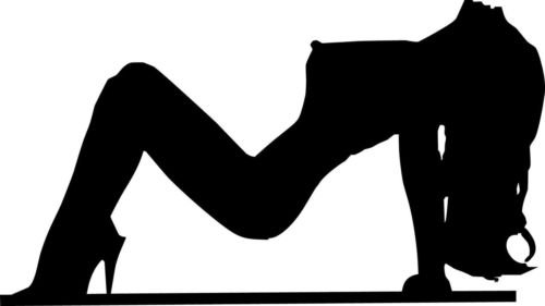 Sexy Girl Silhouette (Sexy Girl Silhouette # 1 Vinyl Decal Car Window Wall Laptop Sticker, Die cut vinyl decal for windows, cars, trucks, tool boxes, laptops, MacBook - virtually any hard, smooth surface)