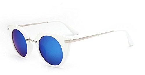 de para Caminante Acero Mujer Sol Light CMCL Gafas Capullos Blue Moda Reflective de Inoxidable Gafas de Moda Ultra 4qPzwY