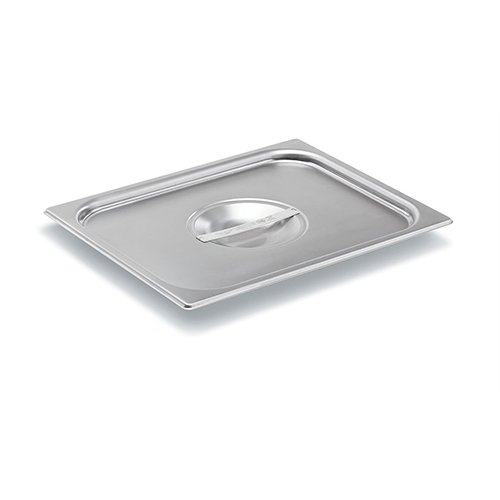 Vollrath (75120) Super Pan V Steam Table / Hotel Pan Cover (1/2 Size, Stainless Steel)