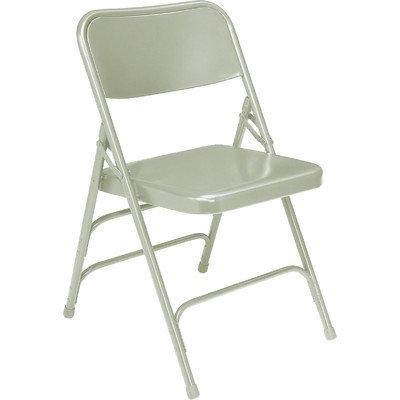 300 Series Triple Brace Steel Folding Chair [Set of 4] Color: Grey