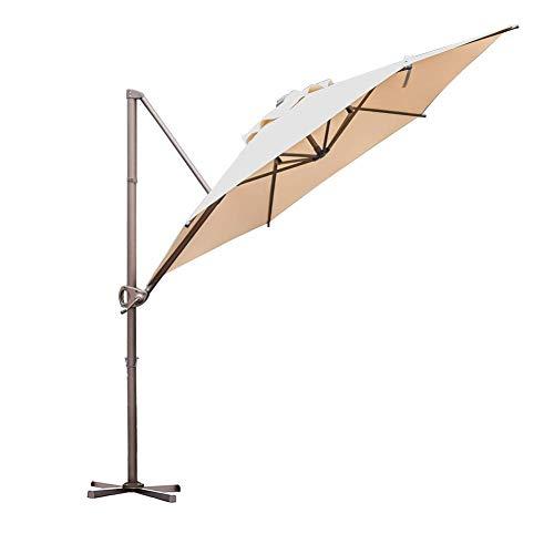 Abba Patio 11-Feet Aluminum Offset Cantilever Umbrella with Cross Base