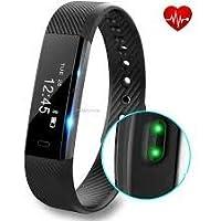Pulseira Smartband ID115 Fitness Bracelete Bluetooth Pedômetro Monitor Calorias Impermeável IP67 (PRETO)