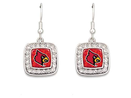 Accessory Accomplice Officially Licensed University of Louisville Cardinals Silvertone Crystal Studded ()