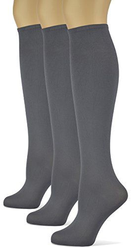 (Sox Trot Knee High Trouser Socks - Made in USA (Smoke) 3)