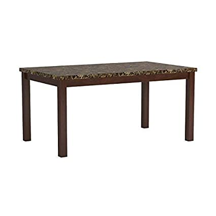 sc 1 st  Amazon.com & Amazon.com - Telegraph Marble Top Dining Table Warm Brown - Tables