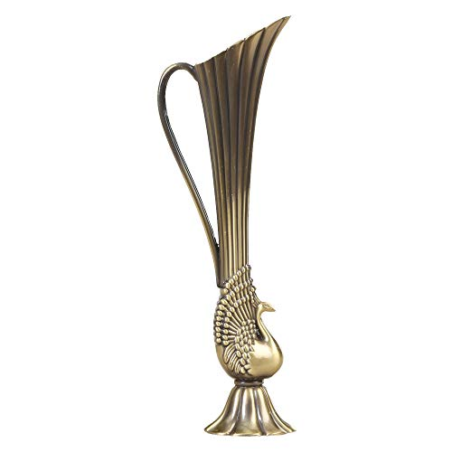 - ADK Collection Unique Alloy Vase, Vintage Tall Decorative Alloy Vase Classic Design Metal Vase, Ideal Decoration for Home 8.75