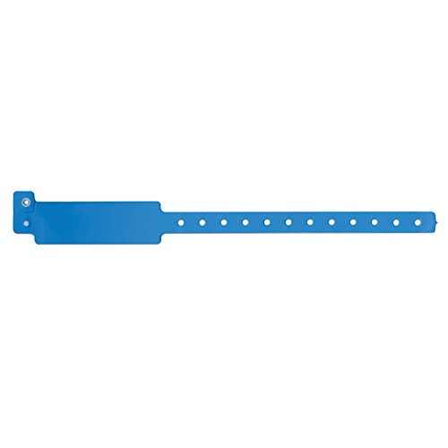 SPEEDI-BAND 420-13-PDM Write-On Wristband, Vinyl Clasp Closure, 1'' x 10'', Adult/Pediatric, Blue (Pack of 500) by SPEEDI-BAND