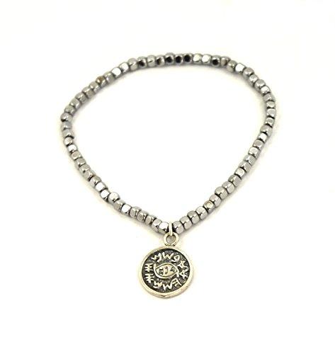 Magnetic Charm Bracelet: MIZZE Jewelry Magnetic Hematite Charm Bracelet With King