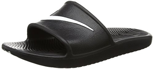 Nike Men's Kawa Shower Slide Sandals-Black/White-14