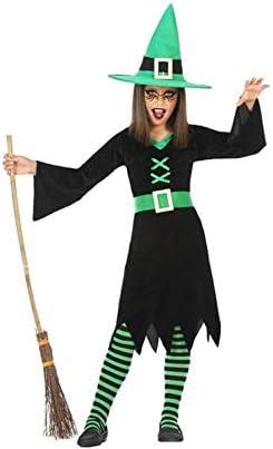 Atosa-55587 Disfraz Bruja para Niña Infantil, color verde, 5 a 6 ...