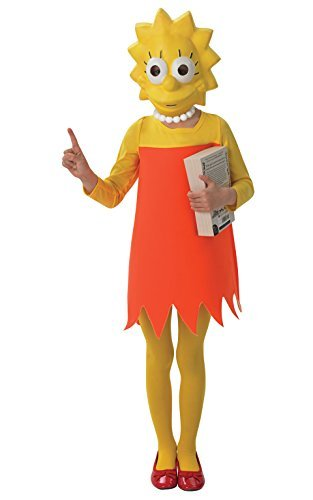 Lisa Simpson - The Simpsons - Childrens Fancy Dress Costume - Medium - 116cm - Age (Simpsons Fancy Dress Costumes)