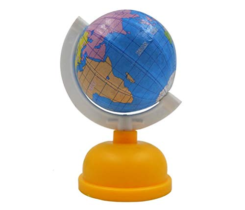 Desktop 1Pc Globe Shape Single Hole Pencil Sharpener School Stationery(Yellow)