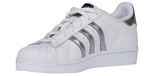 Adidas SUPERSTAR womens fashion-sneakers AQ3091_8 - White/Silver/Silver