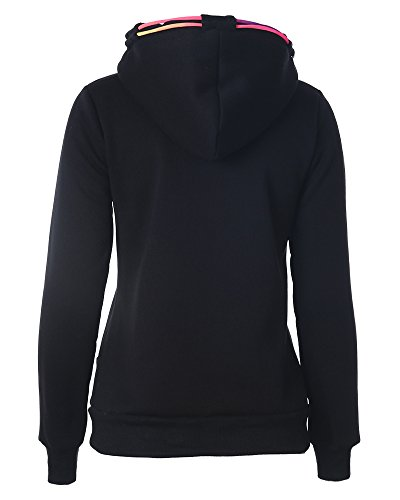 42fa0c3b92f7 ... Jumper Hoodies Winter Jacke Langarm Sweatshirt Top Pullover  Kapuzenpullover Schwarz Damen UqHnTw6w ...
