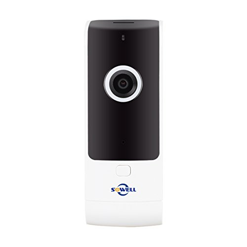 (SOWELL Mini Wireless Home Camera WiFi Security System Indoor IP Camera for Baby /Elder/ Pet/Nanny Monitor with Night Vision and Two-way Audio and Onekey Call Request)