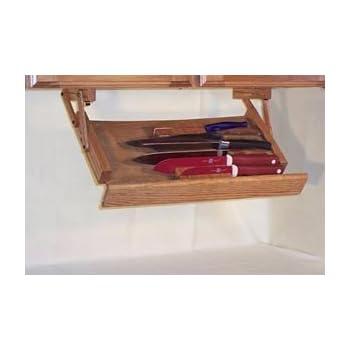 under cabinet mounted knife rack kitchen dining. Black Bedroom Furniture Sets. Home Design Ideas
