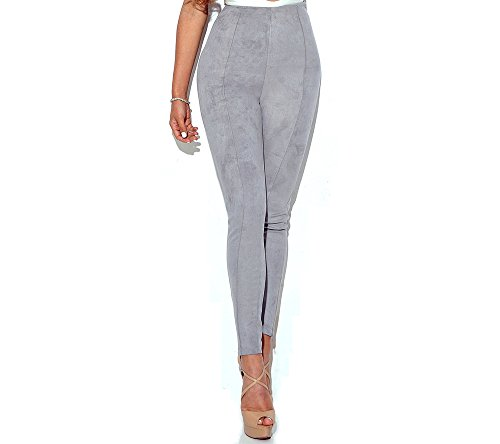 Da Ben Tai Women's Multicolor suede Stretchy Full Length Pants Soft Tights High Waist Leggings,casual pants (Medium, Gray)