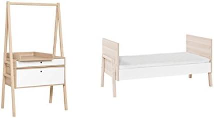 Vox Pack Cuna 70 x 140 + cómoda Cambiador evolutiva Color Blanco y Madera Claro Collection Foco colchón: Amazon.es: Hogar