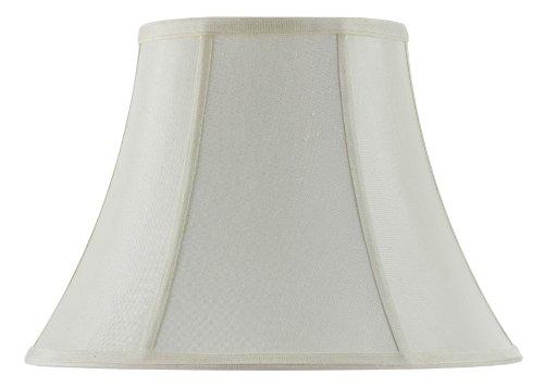 Cal Lighting SH-8104/12-EG 12-Inch Bottom Vertical Piped Basic Bell Shade, Egg (Waterford Lamp Shades)