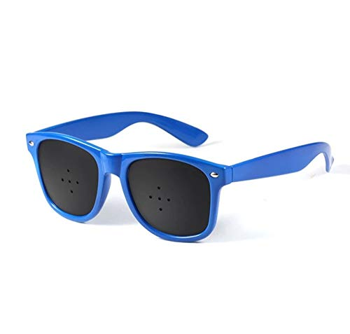 - Adult Vision Correction Glasses Improve Naturally, Kids Pinhole Single Nose Glasses-Microporous Eyesight Protection/Prevention of Near Astigmatism/Amblyopia Eye Exercise (Color : Blue)