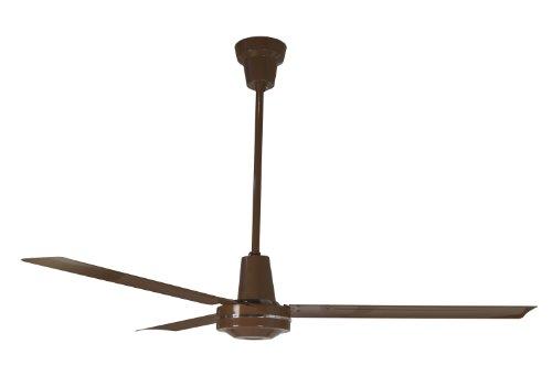 Leading Edge 56011 56-Inch Heavy Duty High Performance Ceiling Fan, 27500 CFM, Brown
