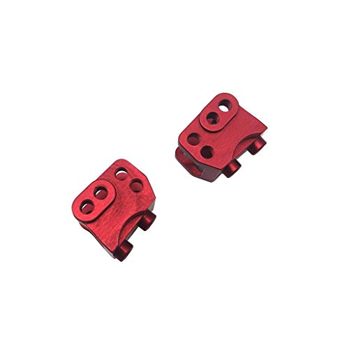 Clothful Toy 1pc Alloy Rear Axle Housing for Traxxas TRX-4 1/10 RC Crawler Car (Red)
